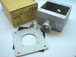 "Hubbell FD20-2 FD Pin & Sleeve Device Back Box 1"" Hubs 2-1/2"" Deep 47 CU... - $14.85"