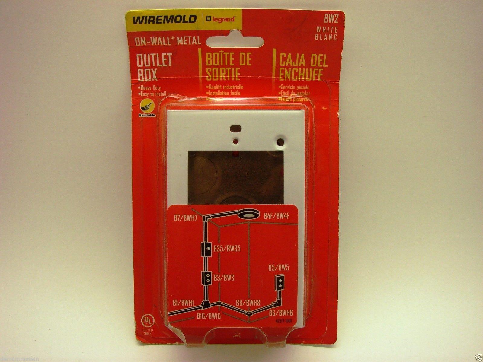 New WireMold BW2 Single Surface Metal Wall Box b53