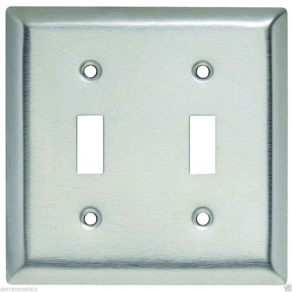 Pass & Seymour SL2 2-Gang Stainless Steel Toggle Switch Wallplate New  f3
