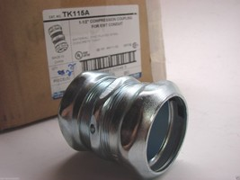 "22 - Steel City TK115A  1-1/2"" EMT Compression Couplings bx - $44.54"