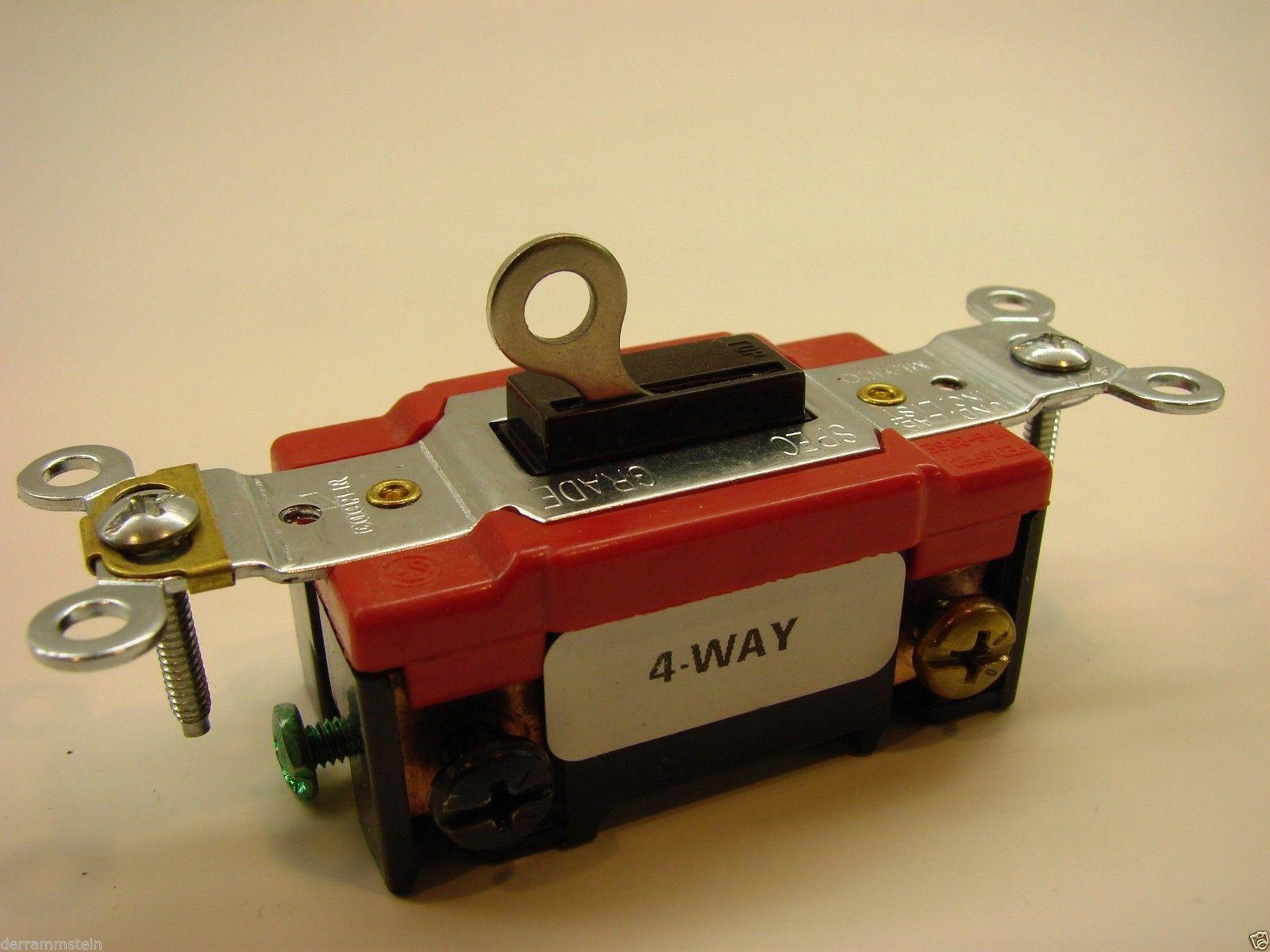 New Arrow Hart AH1224L 4-Way 120/277V 20A Locking Switch                      B1