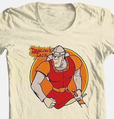 Dragon's Lair Dirk T shirt retro 1980's arcade game vintage cotton graphic tee