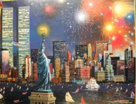SunsOut Jigsaw Puzzle 1996 Manhattan Celebration Alexander Chen Factory ... - $11.99