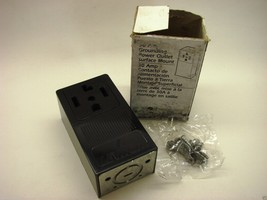 Leviton 55054 30 Amp Single Surface Mounted 3P/4Y Dryer Outlet - Black f1 - $9.89