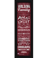 """Personalized College of Charleston """"Cougars"""" -24 x 8 """"Family Cheer"""" Fram... - $39.95"""