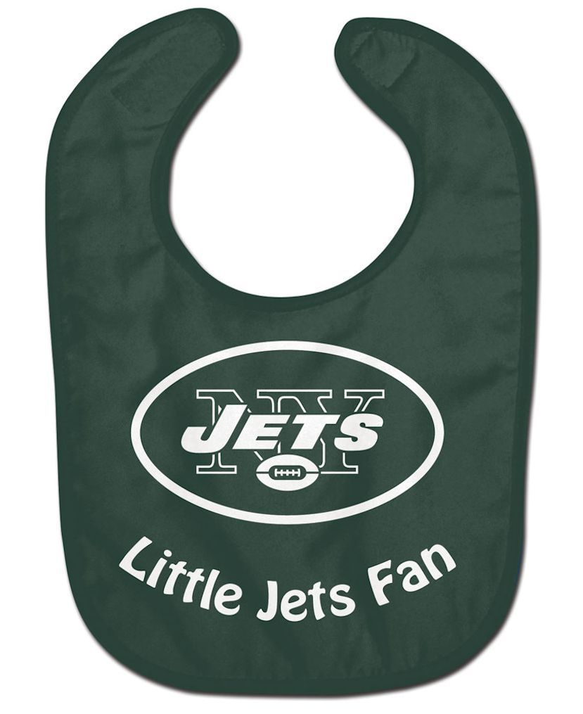 NEW YORK JETS ALL PRO BABY BIB VELCRO CLOSURE TEAM LOGO NFL FOOTBALL