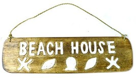 Beach House Nautical Rustic Tropical Island Tiki Sign - $19.74