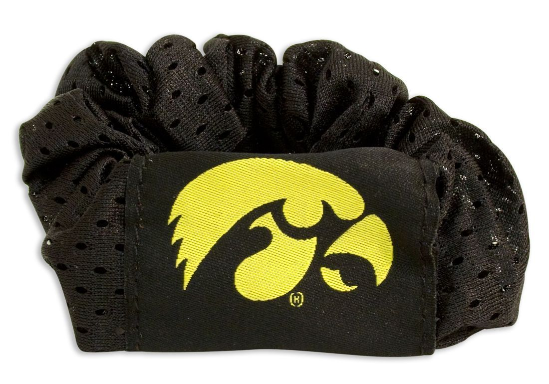 IOWA HAWKEYES SCRUNCHIE HAIR TWIST PONYTAIL HOLDER TEAM SCHOOL LOGO NCAA