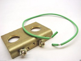 Appleton A.T.X. 2XM20 Brass Earthing Plate 2 Ground Connections With Wir... - $14.84