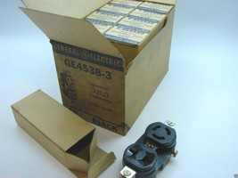 Box Of 10 GE GE4538-3 Locking Type Combination Outlets 125V 15A & 250V 10A  t2 - $19.79