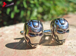 Iron Man Cufflinks with Silver Finish and Black Inlay – Wedding, Father's Day, G - $3.95