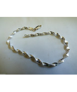 """925 Sterling Silver Italy Rope twist Chain Link Bracelet 7.25""""L - $41.58"""