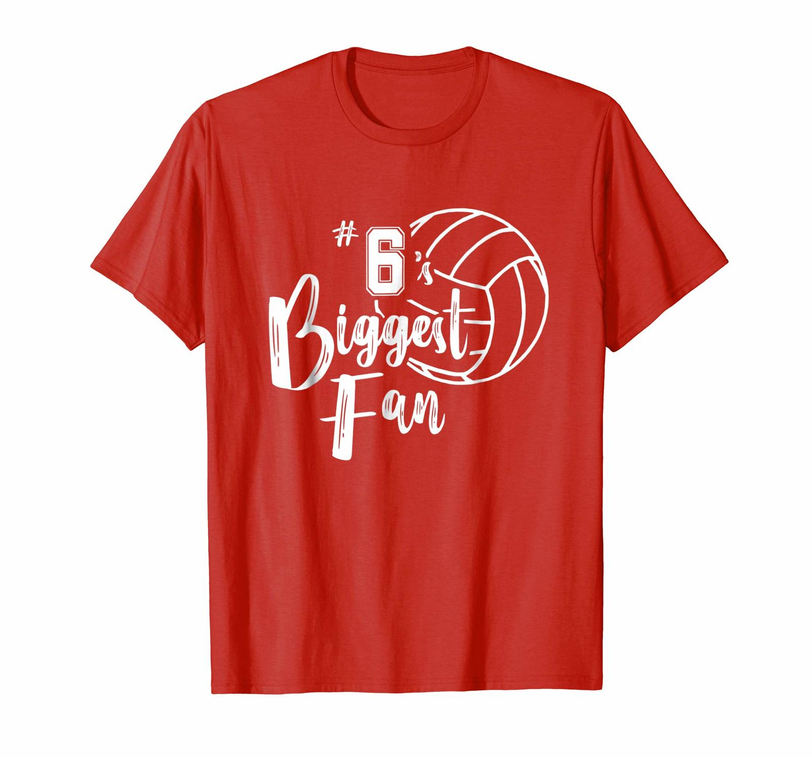 Funny Shirt - Six 6's Biggest Fan Shirt Volleyball Mom Volleyball Dad Men - $19.95 - $23.95