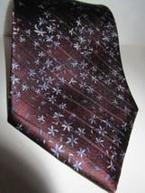 Jeoffrey Beene 100% Silk Neck Tie Classic Floral Brown Blue - $6.99