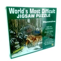"""Worlds Most Difficult Jigsaw Puzzle Wherewolves New Sealed 529 Pieces 15""""x15"""" - $30.86"""