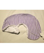 Pottery Barn Kids PBK Boppy Pillow Cover Purple White Polka Dot Stripes - $15.82