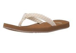 Wmns Roxy (CREAM) Porto Sandal Flip Flops - $26.00