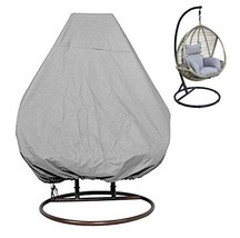 KIKIGOAL Outdoor Patio Hanging Chair Cover Wicker Egg Swing Chair Covers... - $32.48
