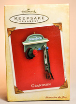 Hallmark: Grandson - Hat and Scarf on Wall - 2004 Keepsake Ornament - $9.48
