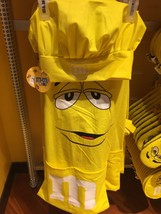 M&M's World Yellow Character Apron and Chef Hat Set Nwe with Tag - $36.66
