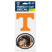 "TENNESSEE VOLUNTEERS 4""X4"" DIE CUT DECAL 2-PACK CAR HOME BRAND NEW WINCRAFT - $9.74"