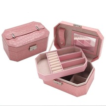 Casegrace Jewelry Box With Lock Many Colors Double Layer Jewelry Storage... - €50,56 EUR