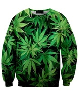 ZD 3D Mens Long Sleeved Pullover Sweater printing green maple tide brand... - $23.55