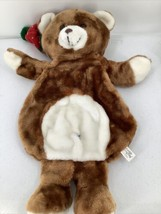 Vintage Christmas Bear Stocking Pajama Jammy Plush Bear North Pole Welli... - $18.69