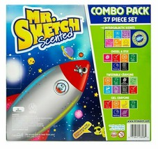 Mr Sketch Scented 37 Piece Set Combo Markers Coloring Book Crayons NIB image 2