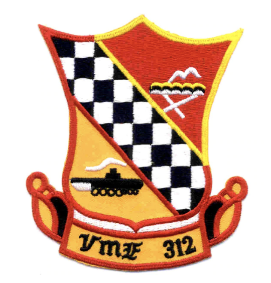 "Primary image for 4.5"" MARINE CORPS VMF-315 CHECKERBOARD FIGHTER ATTACK EMBROIDERED PATCH"