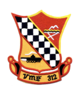 """4.5"""" MARINE CORPS VMF-315 CHECKERBOARD FIGHTER ATTACK EMBROIDERED PATCH - $18.04"""