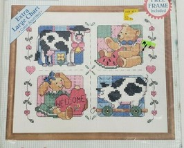 Stitchables 72125 Country Foursome 10x8 Sealed Counted Cross Stitch Kit ... - $15.99