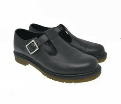 Dr. Martens Polley Air Wair Women's Sz 10 EU 42 Black Leather Loop Mary Jane - $119.99