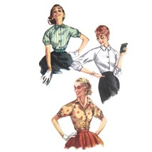 50s Vintage Simplicity Sewing Pattern 1692 Juniors Easy Blouse Shirt Top... - $9.95