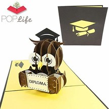 PopLife Graduation Diploma Owl 3D Pop Up Card, 3D Card - Gift for Gradua... - $12.87