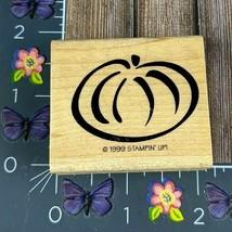 Stampin' Up! Pumpkin 1999 Rubber Stamp Outline Basic Drawn Wood Mount #M18 - $2.48