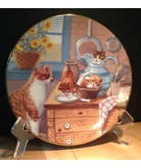 Country Kitties 'Table Manners' by Gre' Gerardi 1988 Hamilton Plate Coll... - $14.99