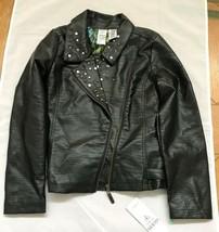 guess women faux leather black jacket M(10/12) - $39.60