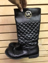 MICHAEL Michael Kors Emma Lux Black Tall Boot 5M - $42.08