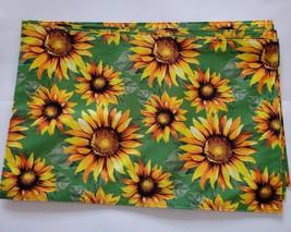 Sunflower Kitchen Linens Set, 9pc, Placemats Towels Potholders Mitt Yellow Green image 4