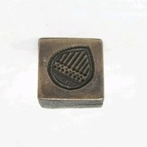 Antique Old Brass Water Drop Carved Pendant Dye Mold Seal Stamp Tribal G... - $60.78