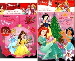 Holiday Christmas Sticker Books - Disney Princess 125 Stickers! (Set of 2) - $14.84