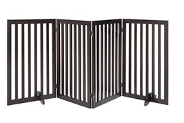 "Total Win - Freestanding 36"" Tall Dog Gate w/ Support Feet Espresso 