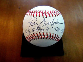 RON SWOBODA THE CATCH WS GAME 4 1969 CHAMPS NY METS SIGNED AUTO OML BASE... - $118.79