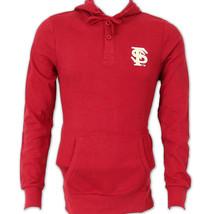 NCAA Florida State Men's Colony Garnet Long Sleeve Hooded Shirt NEW Retails $45 - $26.75