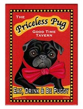 Retro Dogs Refrigerator Magnets - Priceless Pug Tavern - Vintage Adverti... - $8.49