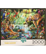 Buffalo Games Jigsaw Puzzle Tiger Lagoon 2000 Pieces 38.5 x 26.5 in. wit... - $8.95