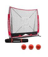 Rukket 6pc Baseball & Softball Bundle | 5x5 Hitting Net | 3 Weighted Bal... - $69.49