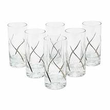 "Glazze Crystal RMC-066-PL 24K Platinum Set of 6 Highball glasses, 6""H, - $68.17"