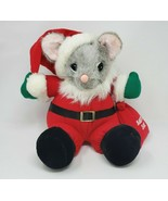 VINTAGE JC PENNY CHRISTMAS SANTA CLAUS SAC BAG MOUSE STUFFED ANIMAL PLUS... - $45.82